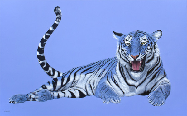 BLUE TIGER ON BLUE, 2012