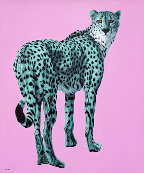 CHEETAH ON PINK, 2013