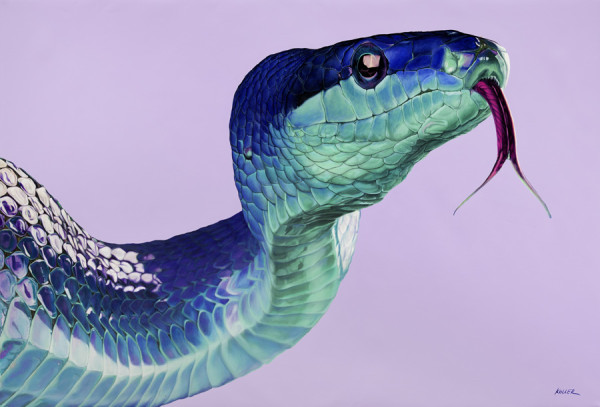SNAKE ON LIGHT VIOLET, 2013