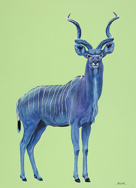 KUDU IN BLUE, 2014