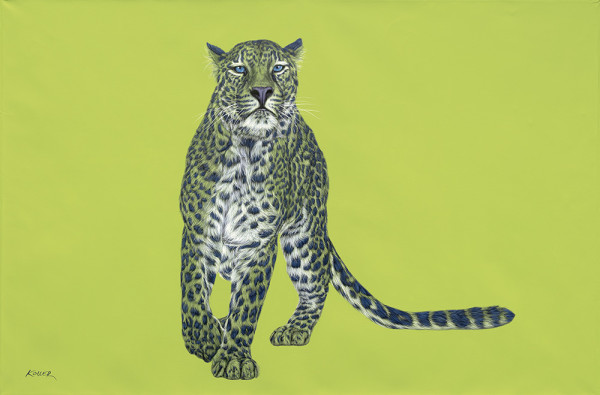LEOPARD WITH BLUE SPOTS, 2015