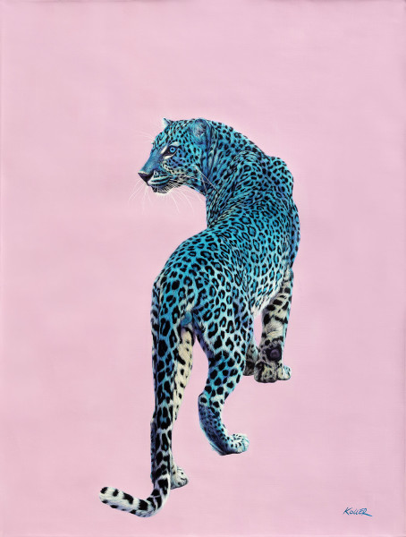 LEOPARD ON PINK, 2015