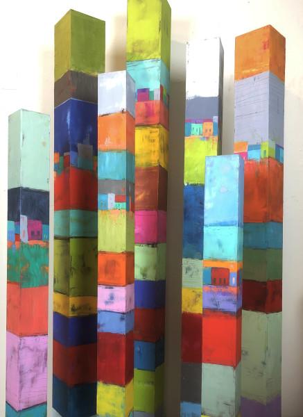 Small Village Happy Life (Pillars, 7 pieces)