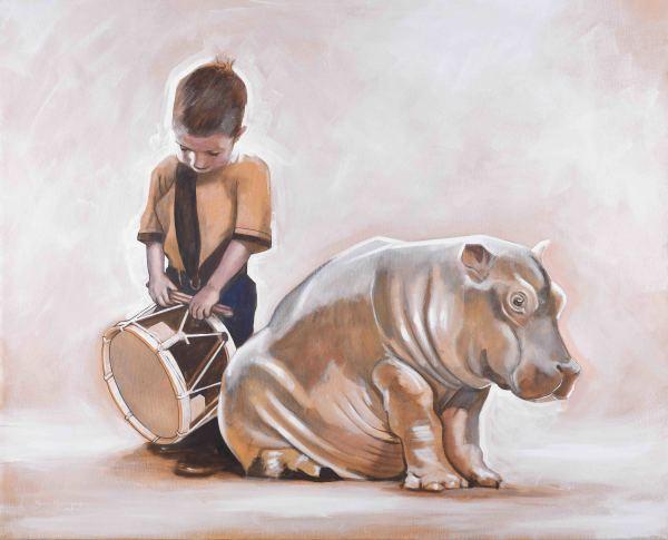 The Drumming Boy and The Hippopotamus