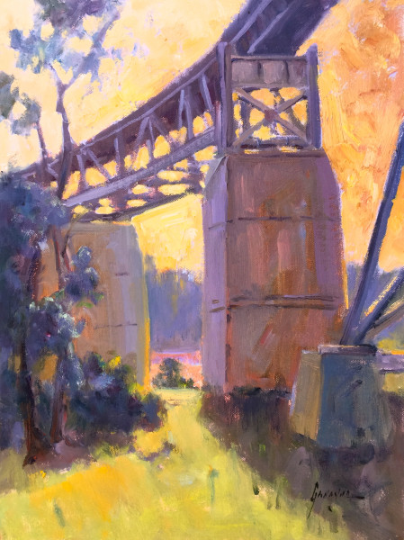 """Evening at the Trestle"""
