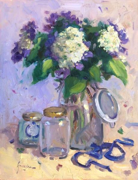 Hydrangeas and Glass