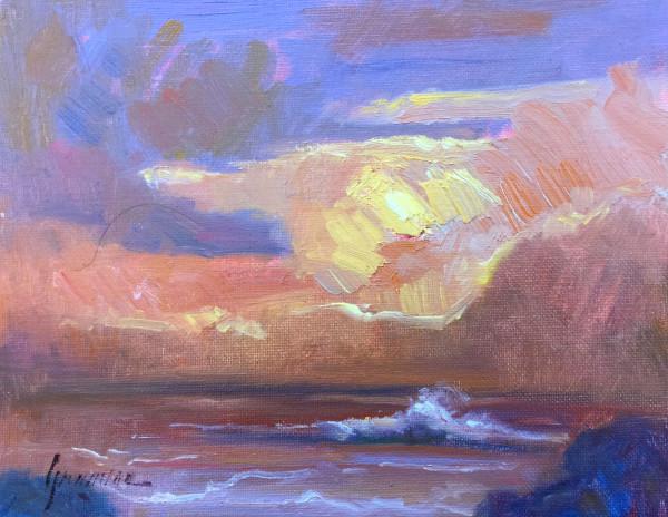 Sunset Impasto