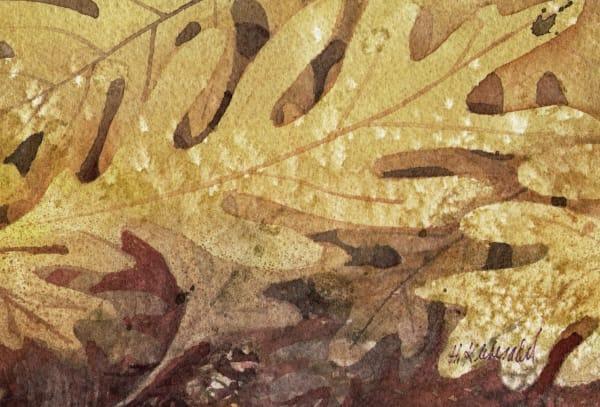 Oak Leaves I an original watercolor