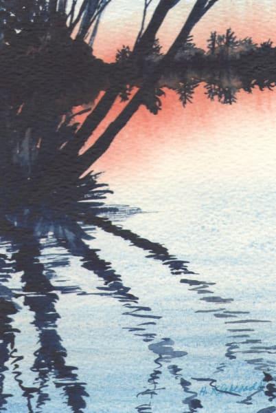 Reflection III an original watercolor