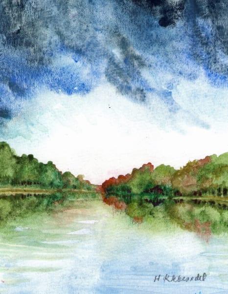 River Study an original watercolor