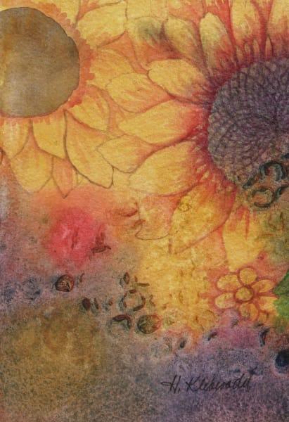 Sunflower Study an original watercolor