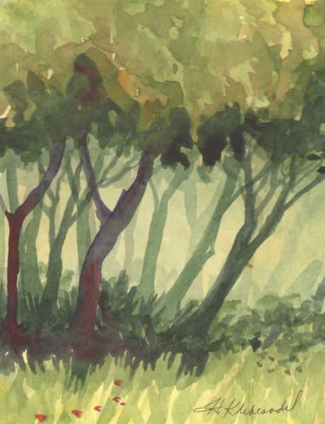 Woods III an original watercolor
