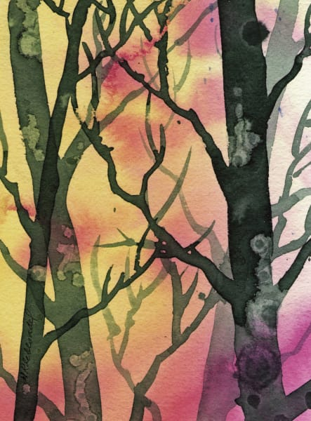 Woods I an original watercolor