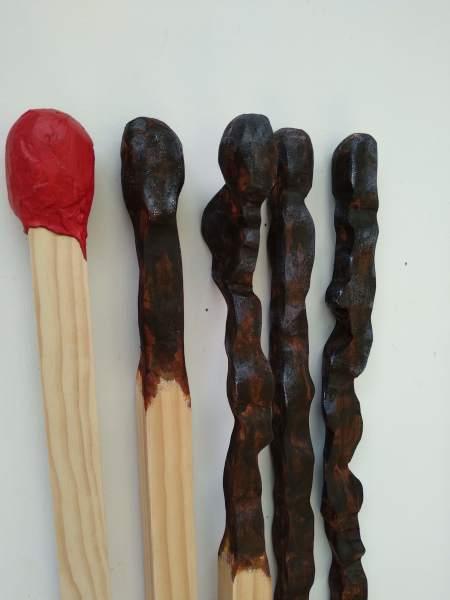 Carved Matchsticks  . Progression . . (19001)