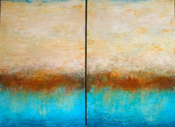 Sunset at the Point  (Diptych)