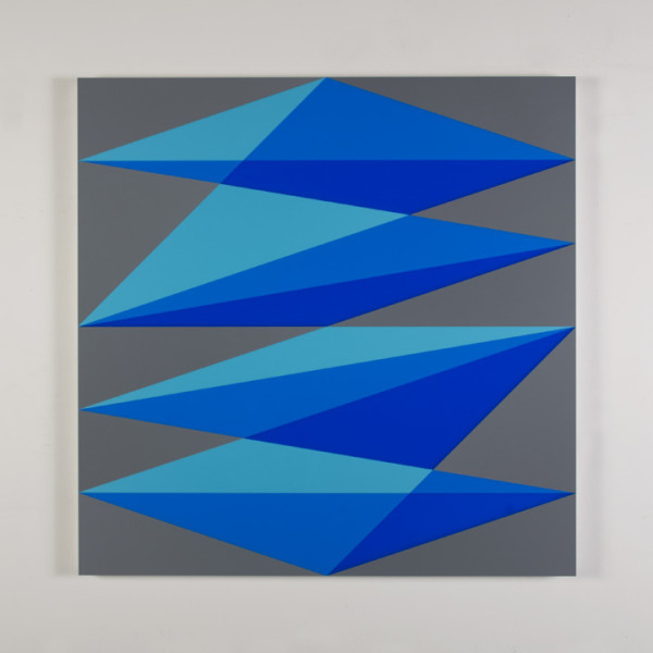 Composition in 2308 Turquoise, 2648 Blue, 2051 Blue and 3001 Gray