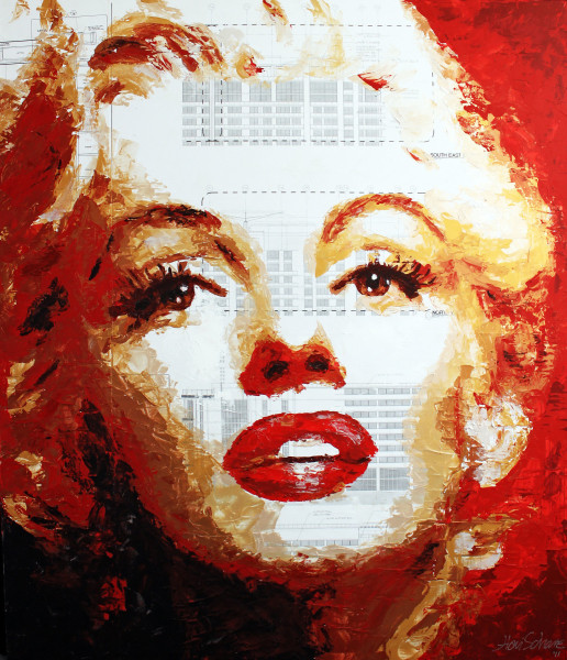 Marilyn Floorpan - Mix Media