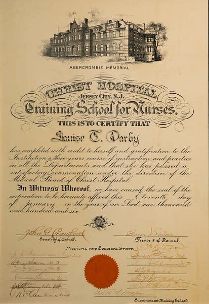Untitled (1906 Nursing Diploma)
