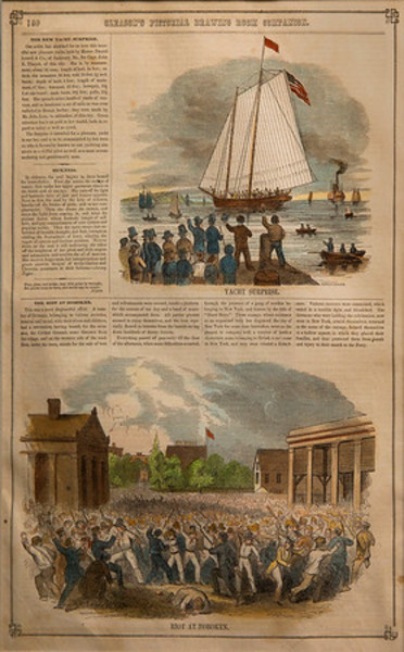 Riot at Hoboken from Gleasons Pictorial