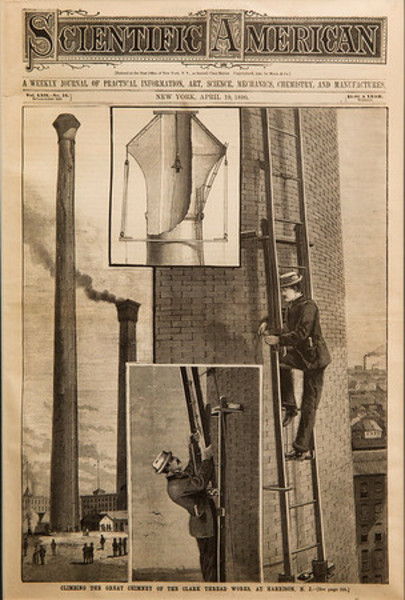 Climbing the Great Chimney of the Clark Thread Works at Harrison, NJ Scientific American