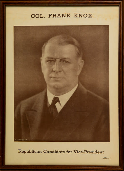 Untitled (Col. Frank Knox--Republican Candidate for Vice President)