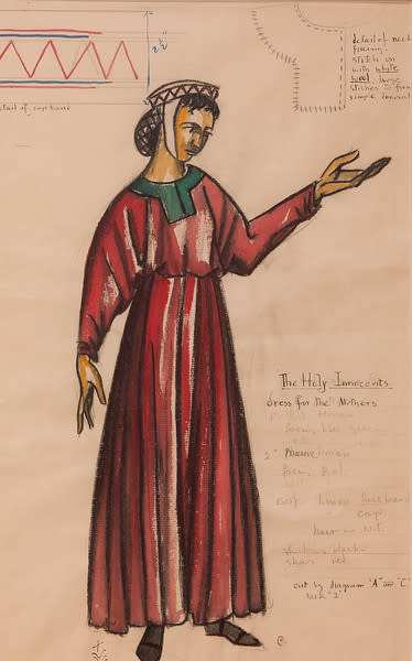 Costume Sketch for the Holy Innocents, Dress for the Mothers