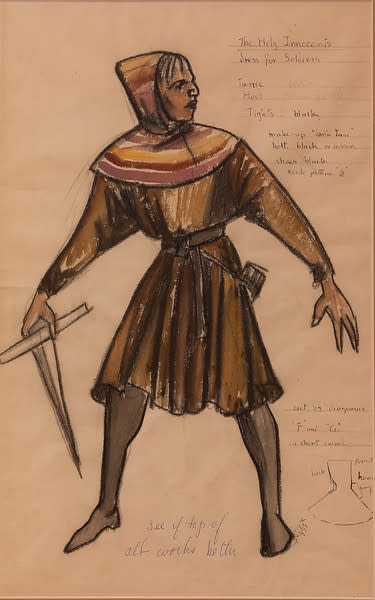 Costume Sketch for the Holy Innocents, Dress for the Soldiers