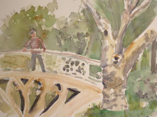 Man on Gothic Bridge