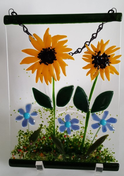 Garden Hanger-Sunflowers & Blue Daisies