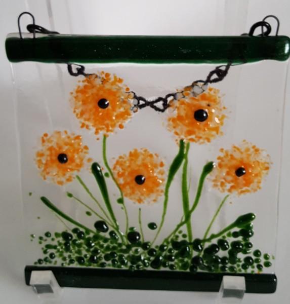 Garden Hanger-Orange/White Dahlias
