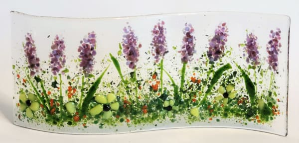 Garden Curve with Lavender & Daisies