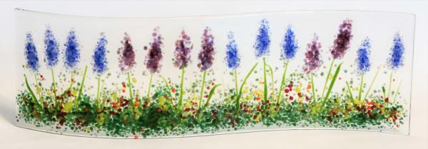 Garden Curve-Lavender & Delphiniums