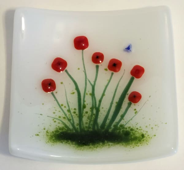 Small Plate-Red Poppies