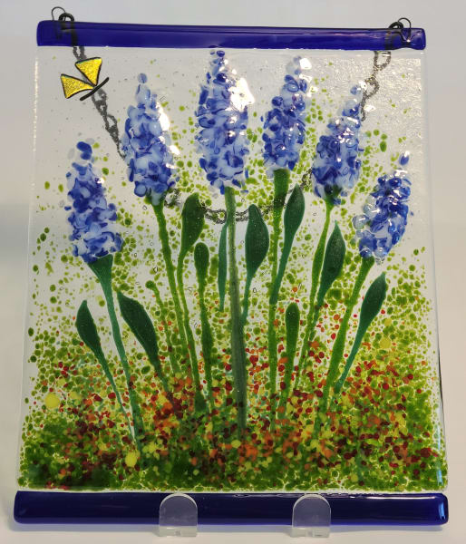 Garden Hanger-Delphiniums & Butterflies