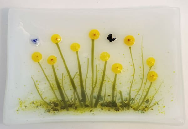 Soap Dish/Spoon Rest with Sunflowers