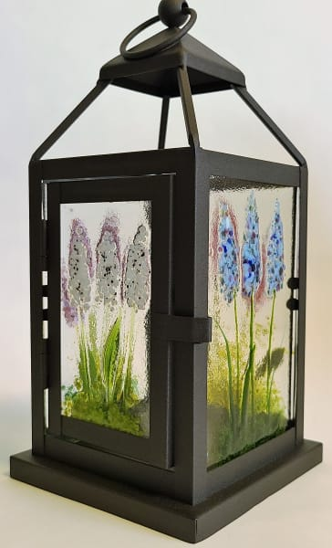 Lantern, Small with Spire Flower Panels