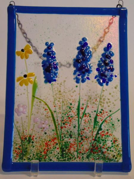 Garden Hanger-Delphiniums, Daisies