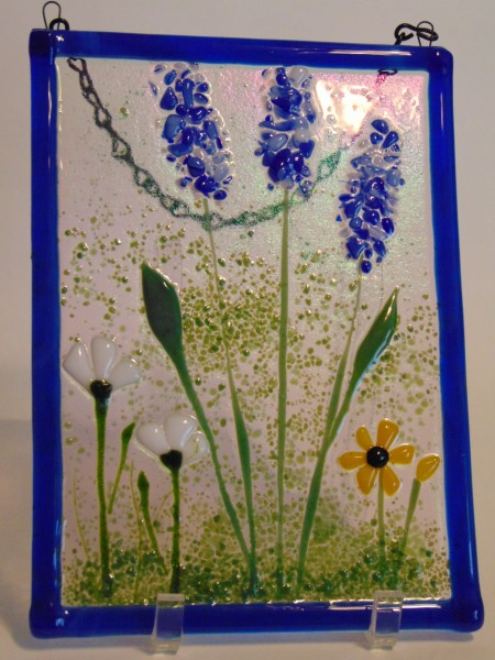 Garden Hanger-Delphiniums/Daisies