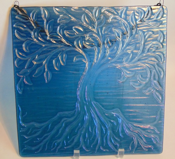 Tree of Life Hanger-Steel Blue Irid