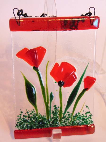 Garden Hanger-Red Poppies