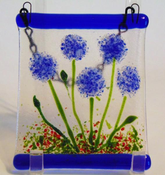 Garden Hanger-Blue Pom Flowers