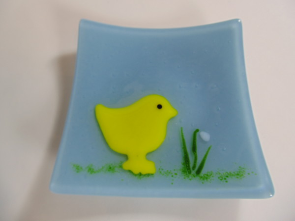 Chick Easter Plate-Powder Blue
