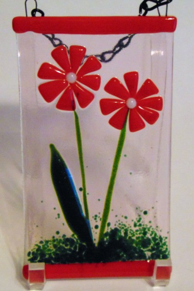 Garden Hanger-Red Flowers
