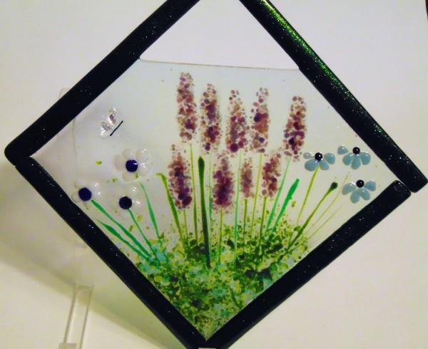 Garden Hanger-Diagonal with Lavender & Daisies