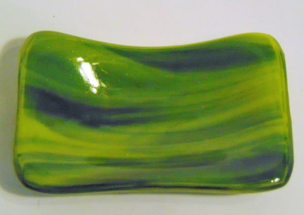 Small dish-Green/Yellow Streaky