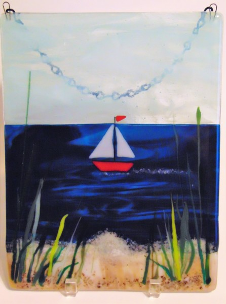 Garden Hanger-Sailboat on Ocean