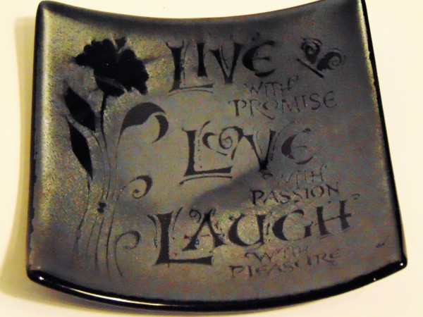Live With Promise Plate on Silver Irid