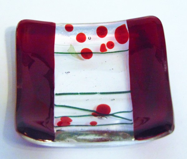 Small dish-Red with Holly Berry