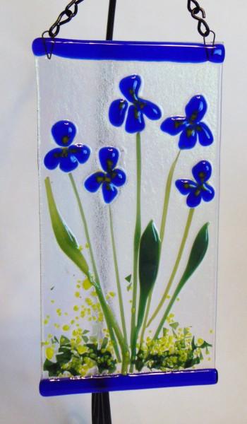 Garden Hanger-Blue Irises