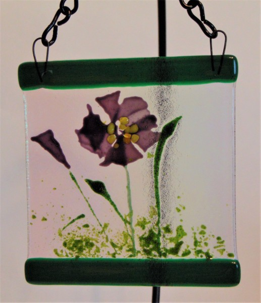 Garden Hanger-Small: Purple Confetti Flower